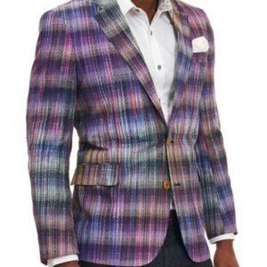 Robert Graham Sunderbans Purple Plaid Sports Coat